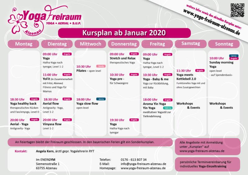 Kursplan ab Januar 2020